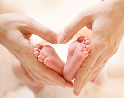 Pregnancy baby feet osteopath Bath